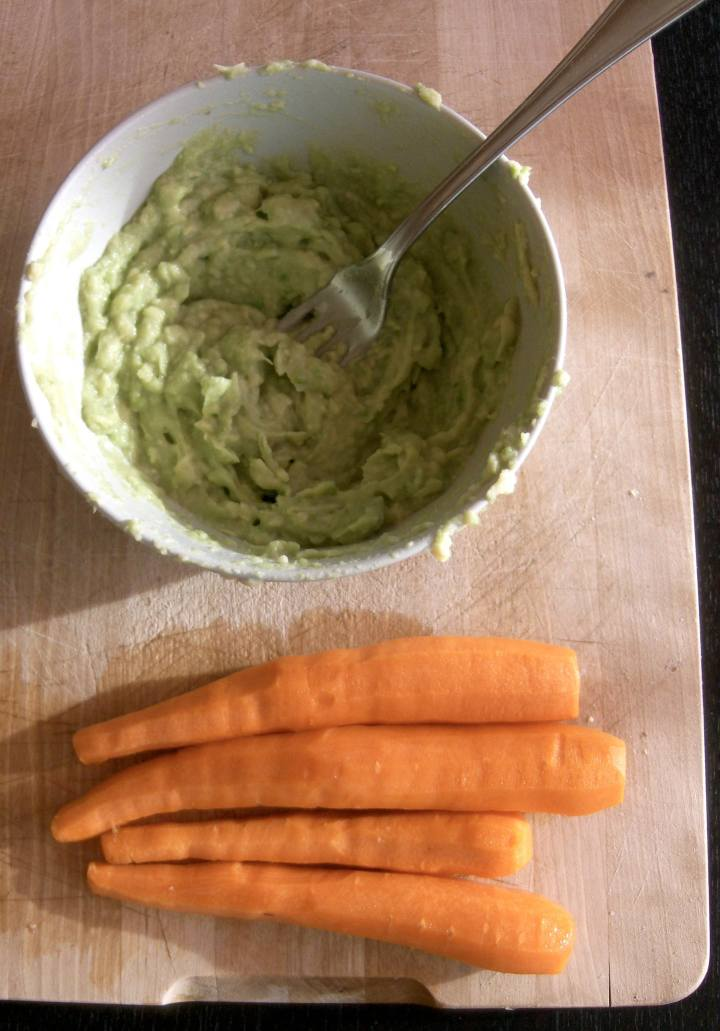 Wasabi and avocado dip