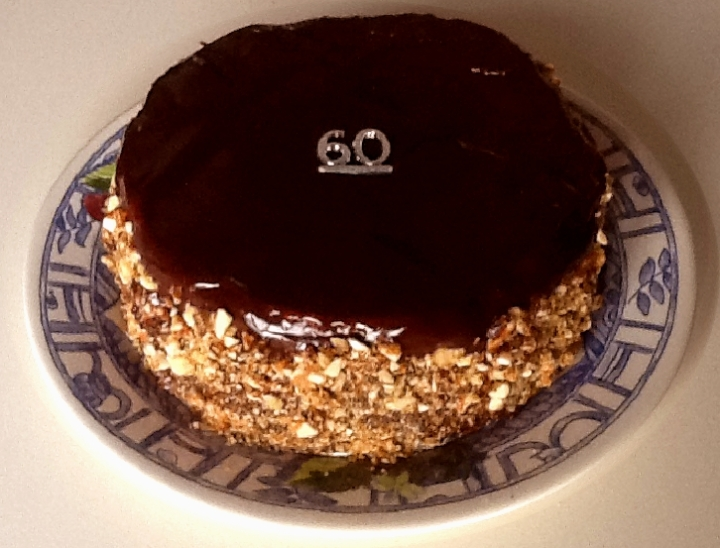 60 Birthday cake
